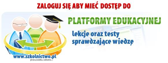 Zaloguj się aby mieć dostęp do platformy edukacyjnej