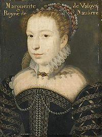 królowa Margot - Małgorzata de Valois, La Reine Margot, franc. Marguerite de Valois (ur. 14 maja 1553, zm. 27 maja 1615), królowa Francji i Nawarry. - 200px-Margot