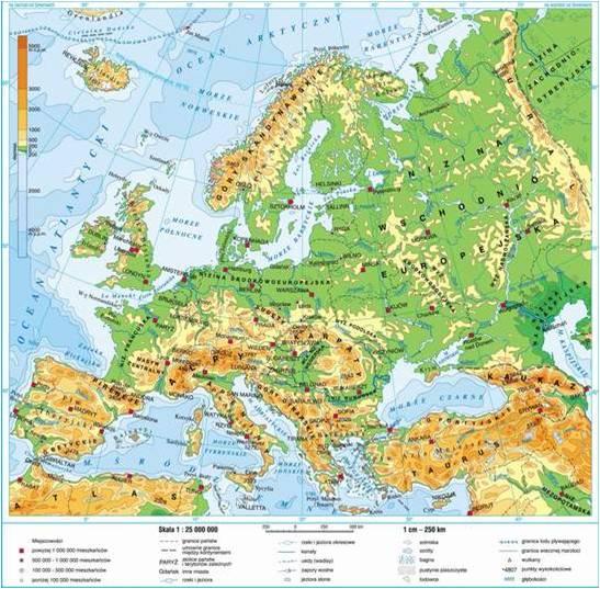 Europa Zagadnienia Przyrodnicze Lekcja Testy Wiedzy